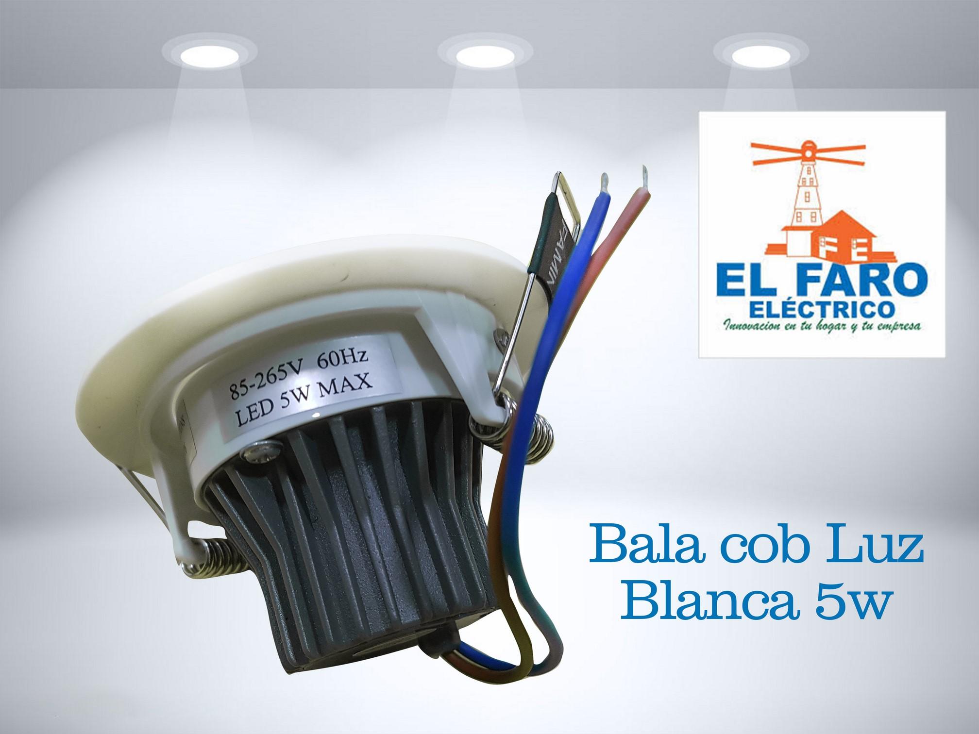 Bala cob Luz Blanca 5w