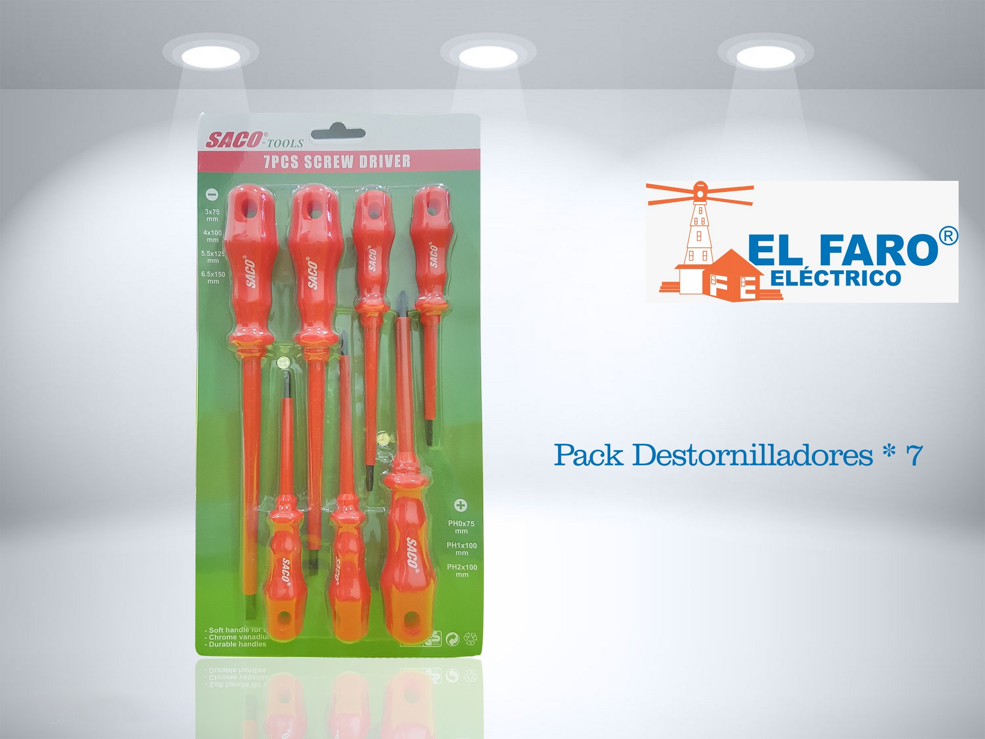 Destornilladores Pack x 7