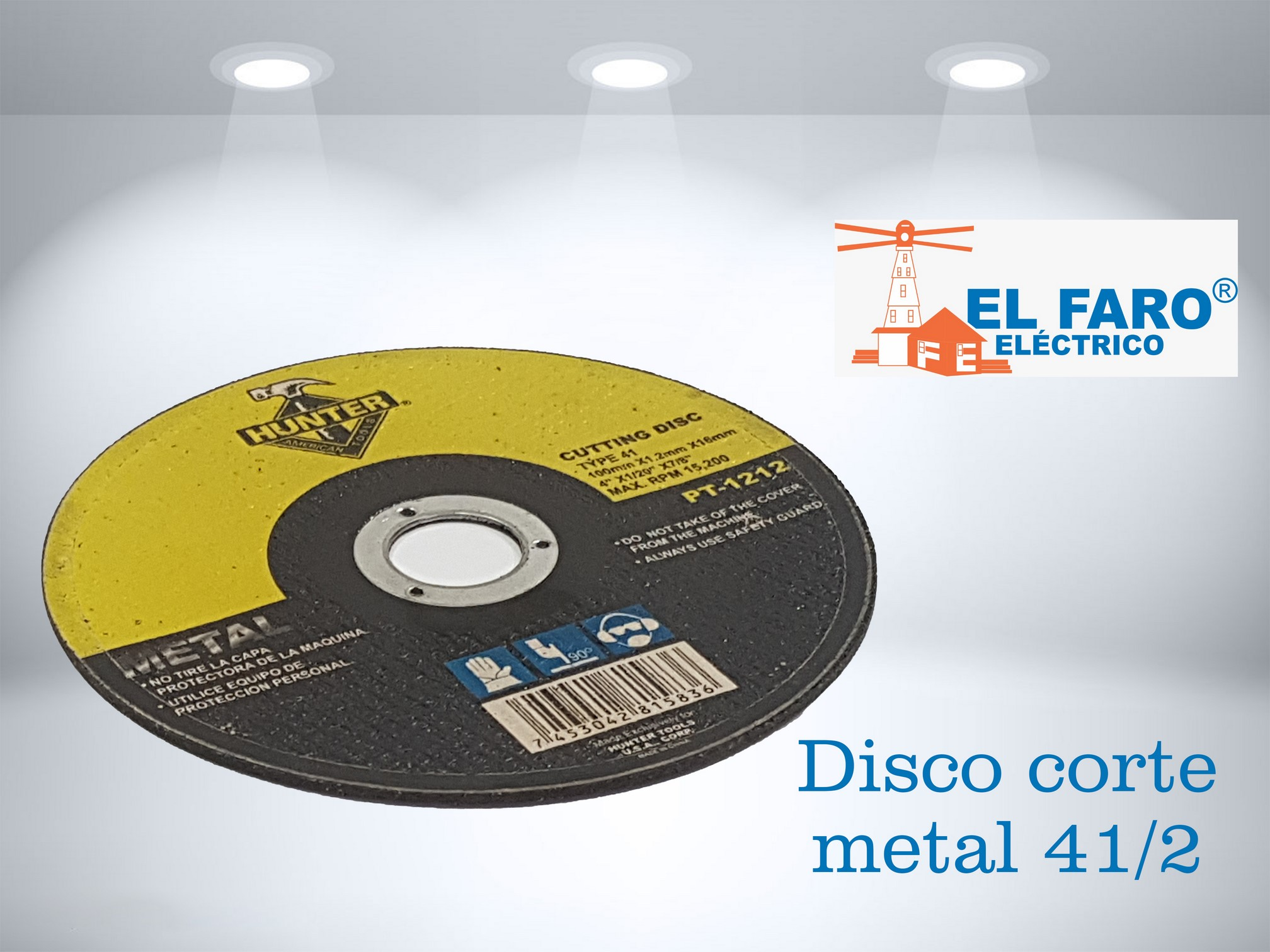 Disco corte metal 41/2