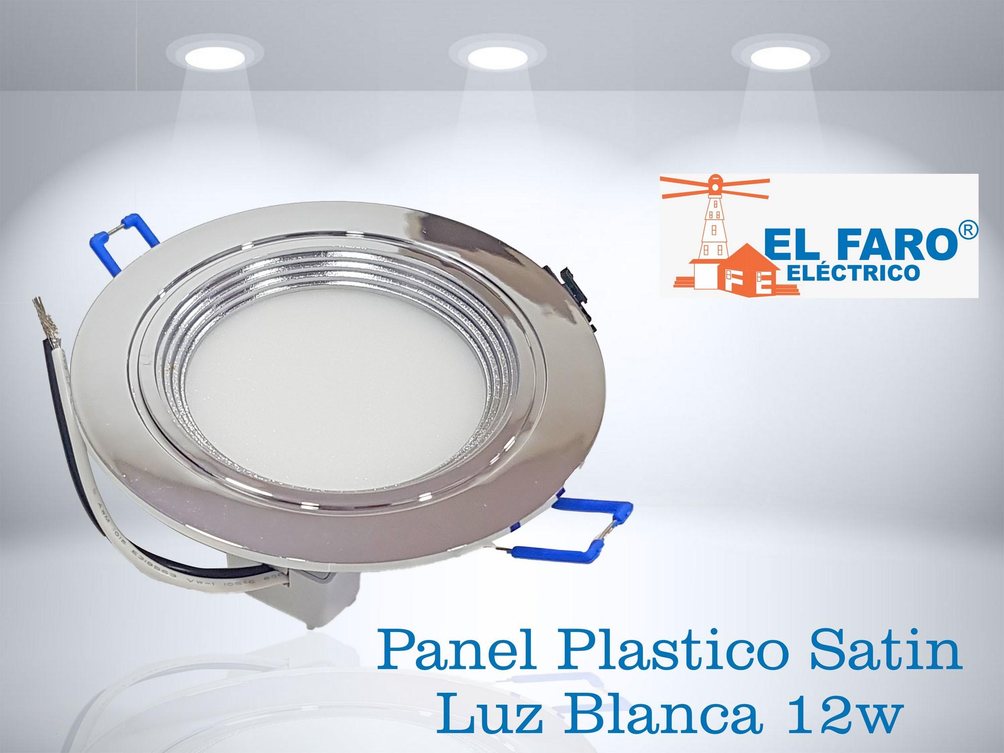 Panel plástico satin luz blanca 12w