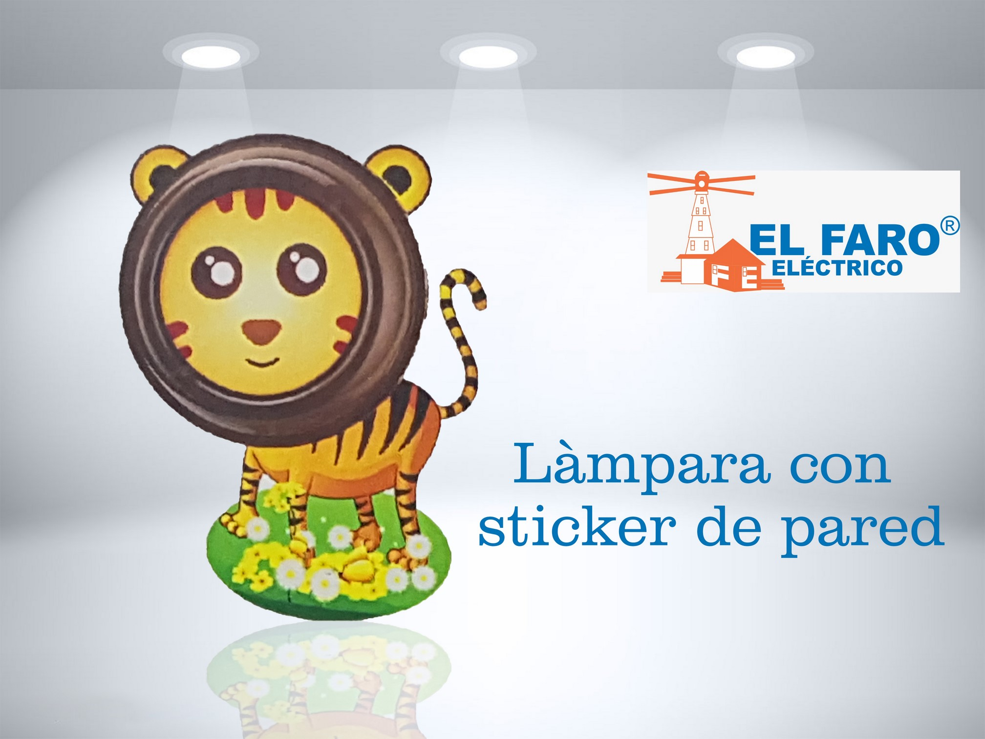 Làmpara con sticker de pared