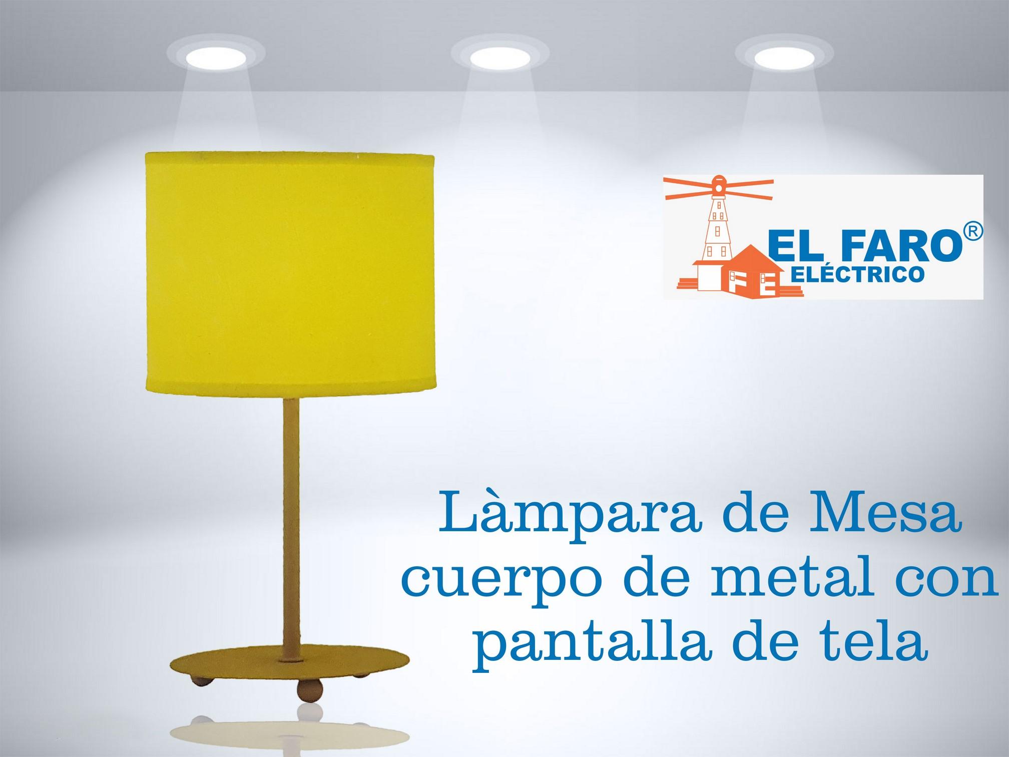 lámpara de mesa cuerpo de metal
