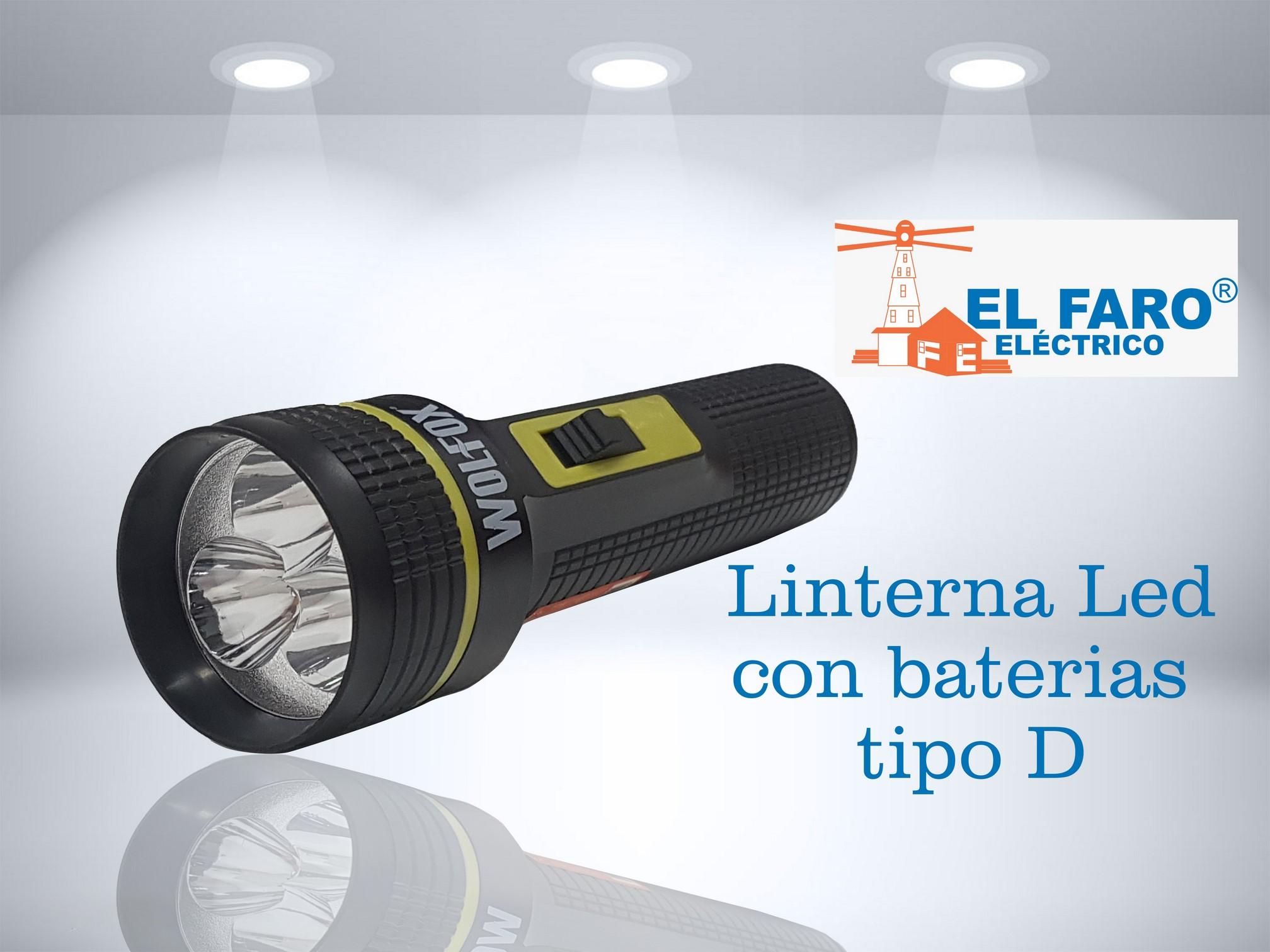 Linterna LED con baterías tipo D