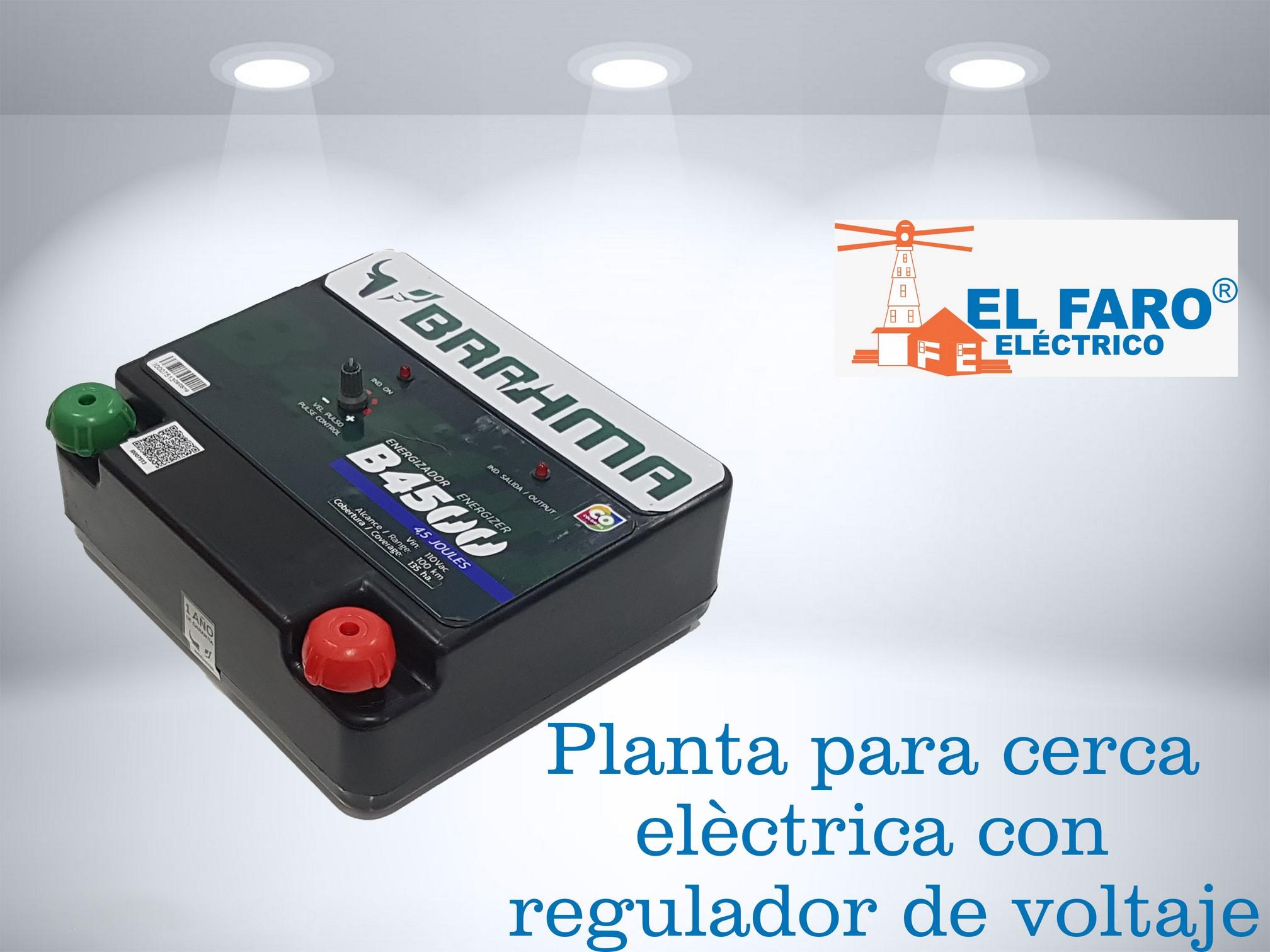 Planta para cerca eléctrica con regulador de voltaje