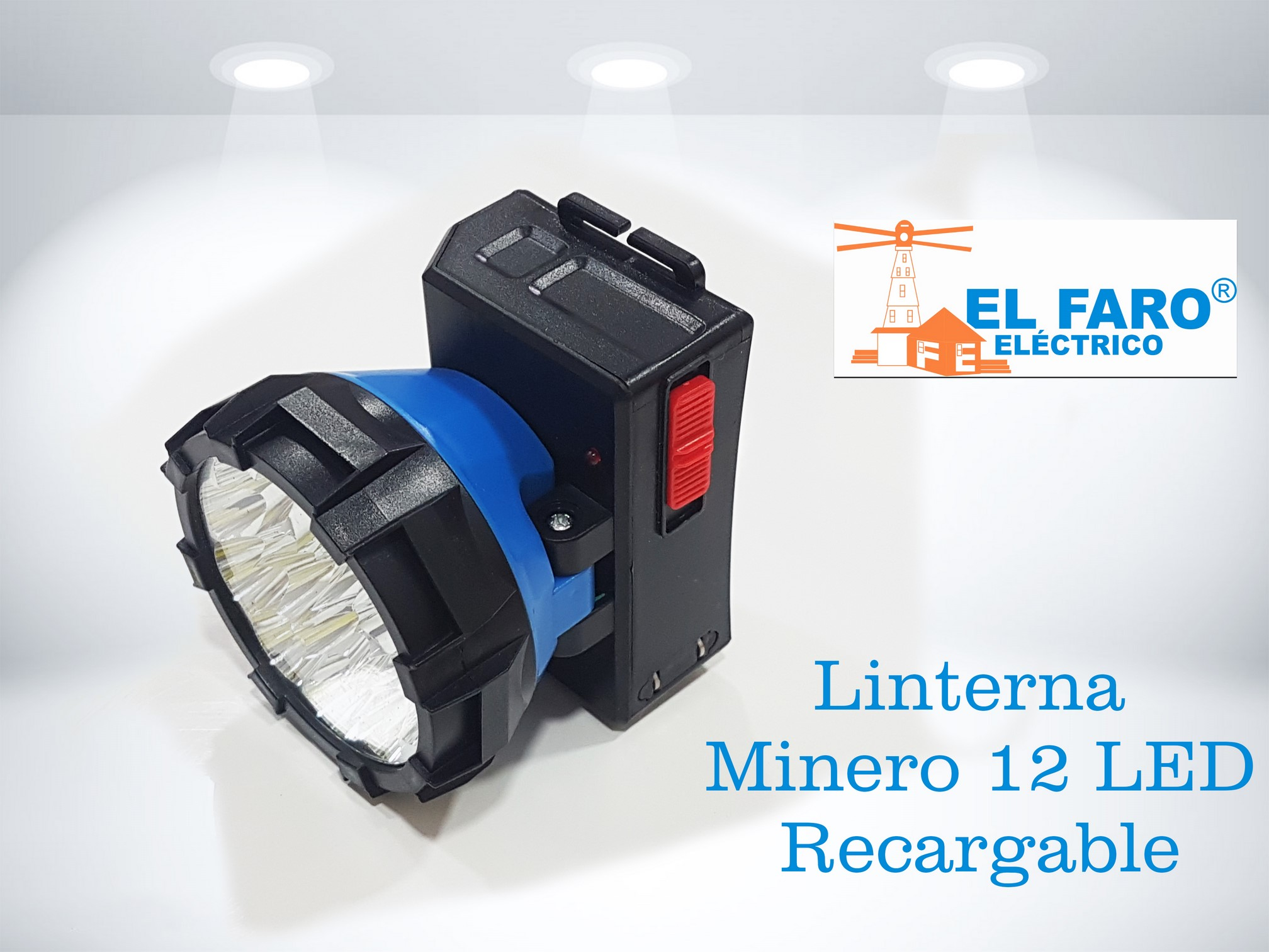 Linterna Minero 12 LED Recargable