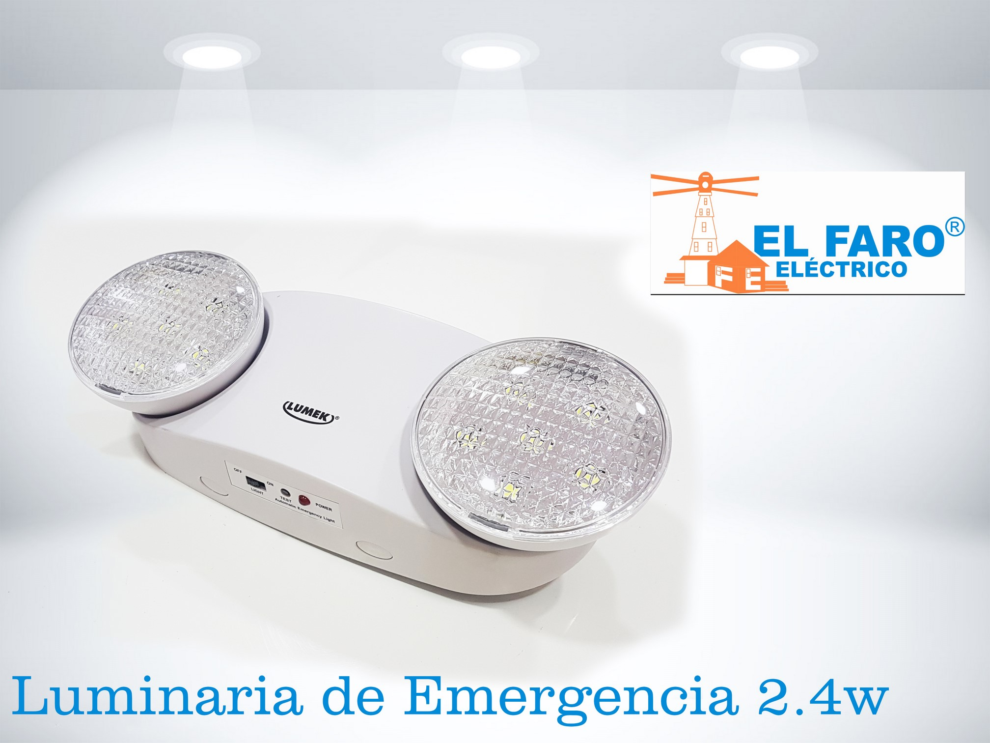Luminaria de emergencia 2.4w LED