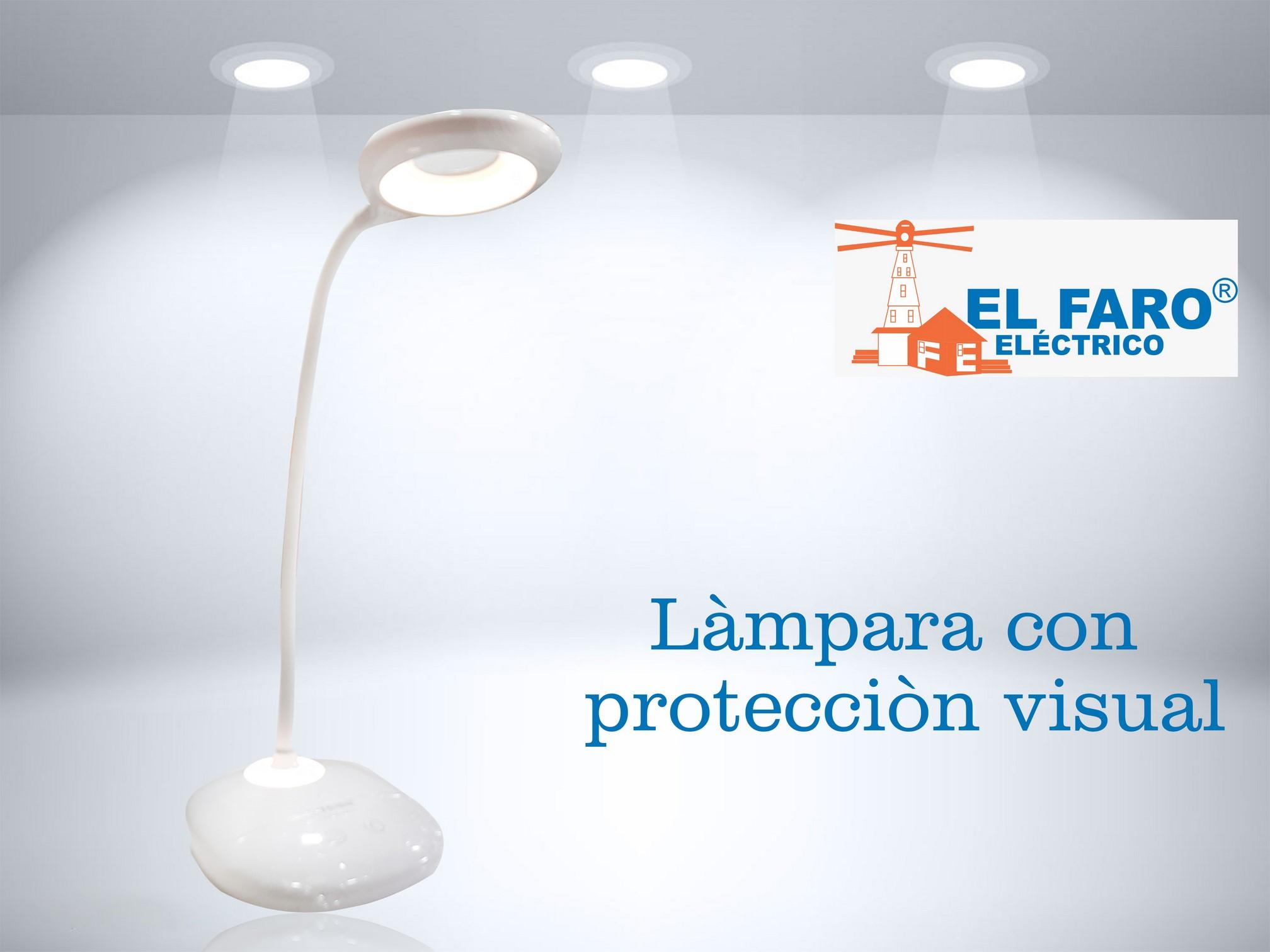Lámpara con protección visual